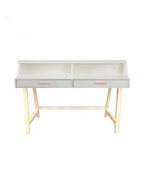 Białe biurko drewniane BSM2
